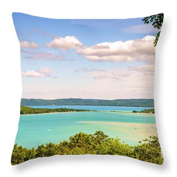 Throw Pillow featuring the photograph Sleeping Bear Dunes National Lakeshore by Alexey Stiop