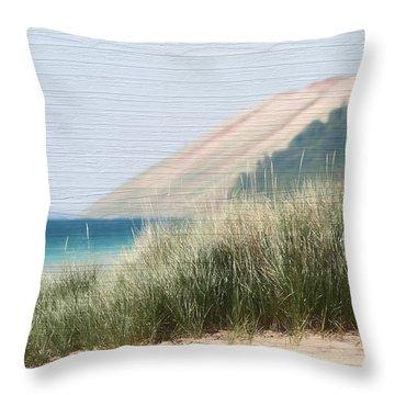 Sleeping Bear Sand Dune Throw Pillow by Dan Sproul