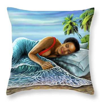 Sleeping Beauty Throw Pillow by Anthony Mwangi