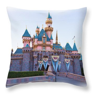 Sleeping Beauty's Castle Disneyland Throw Pillow