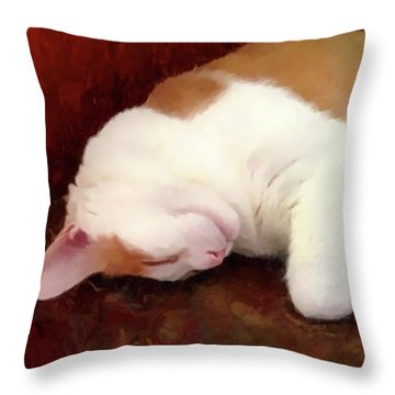 Sleeping Boo Throw Pillow