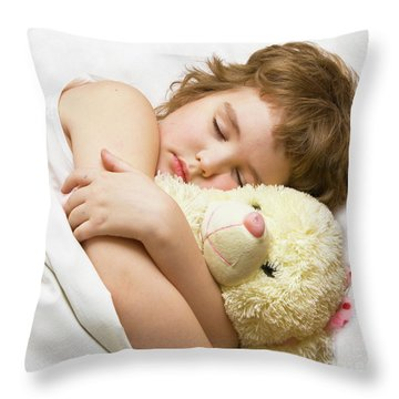 Sleeping Boy Throw Pillow