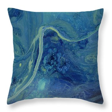 Sleeping Depths Throw Pillow