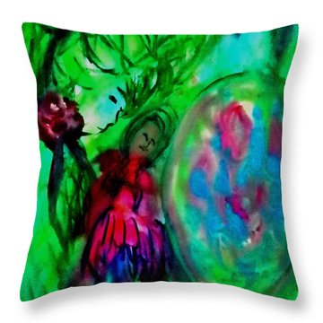 Sleeping Doll Throw Pillow