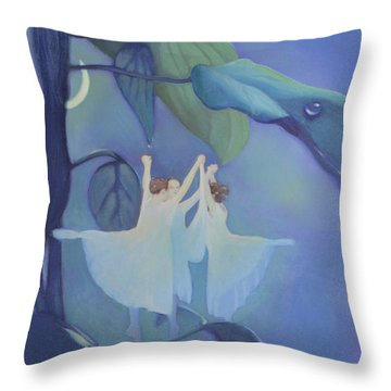 Sleeping Fairies Throw Pillow by Blue Sky
