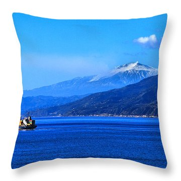 Sleeping Giant Throw Pillow