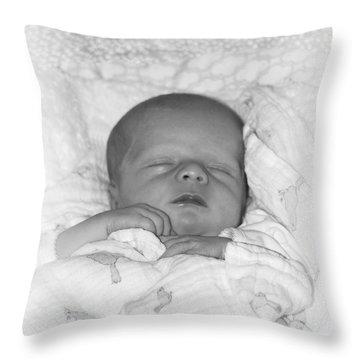 Sleeping Girl Throw Pillow by Ellen O'Reilly