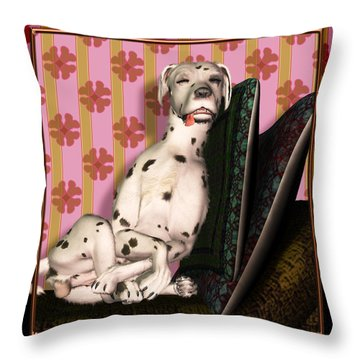 Sleeping IIi Throw Pillow