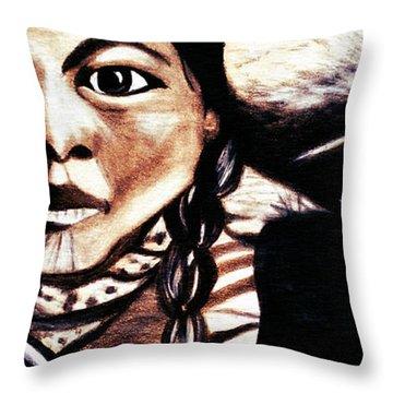 Sleeping Native Papoose  Throw Pillow