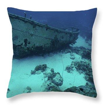 Sleeping On The Bottom Throw Pillow