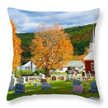 Sleeping Peacefully Throw Pillow by Jeanette Oberholtzer