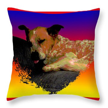 Sleeping Soundly Throw Pillow by One Rude Dawg Orcutt