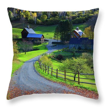 Throw Pillows Magnolia : Sleepy Hollow Farm, Woodstock, Vermont Photograph by Henk Meijer Photography