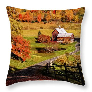 Throw Pillow featuring the photograph Sleepy Hollow - Pomfret Vermont-2 by Jeff Folger