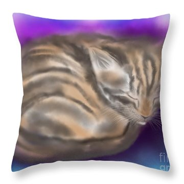 Throw Pillow featuring the painting Sleepy Sam by Nick Gustafson