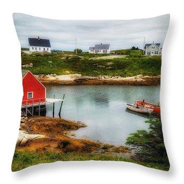 Sleepy Seascape Throw Pillow
