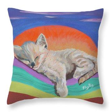 Sleepy Time Throw Pillow by Phyllis Kaltenbach