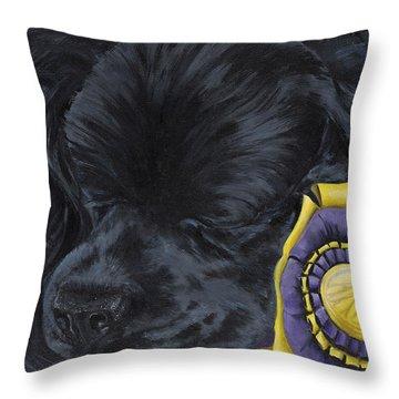 Sleepy Time Spader Throw Pillow by Gilda Goodwin