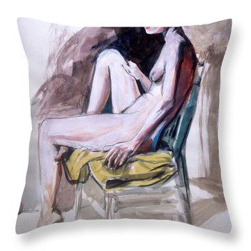 Slender Redhead Throw Pillow