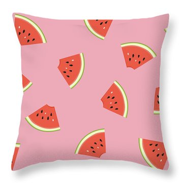Slice Of Life Throw Pillow by Elizabeth Tuck
