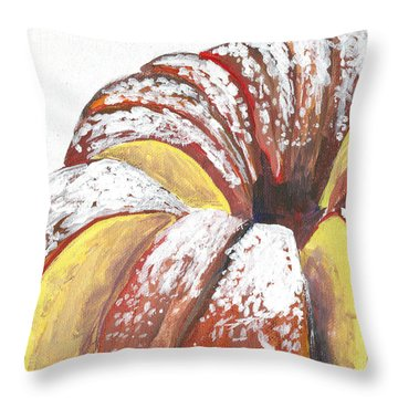 Sliced Bundt Cake Throw Pillow