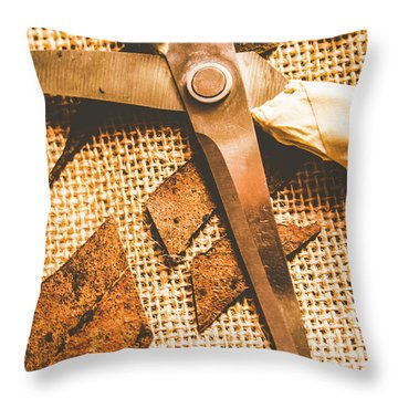 Slicing Of Segmented Leaves Throw Pillow