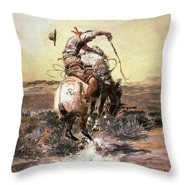 Slick Rider Throw Pillow