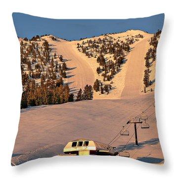 Slide Mountain Throw Pillow