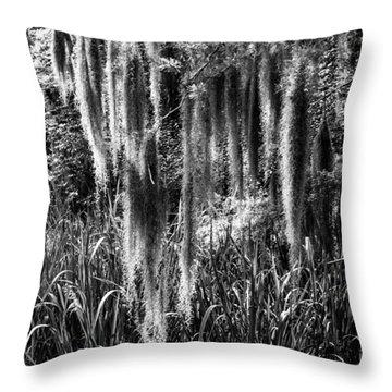 Slidell Spanish Moss Throw Pillow