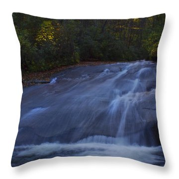 Throw Pillow featuring the photograph Sliding Rock Falls by Ellen Heaverlo
