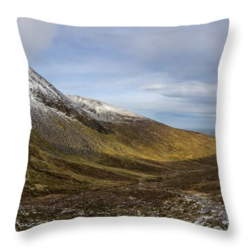 Slieve Commedagh And Slieve Donard Panorama From The Assent  Throw Pillow