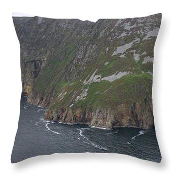 Slieve League Cliffs Throw Pillow