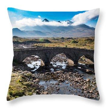 Throw Pillow featuring the photograph Skye Cuillin From Sligachan by Gary Eason