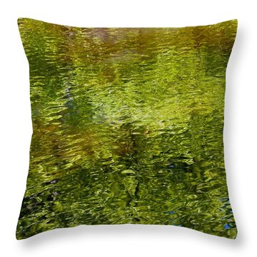 Slight Summer Ripple Throw Pillow