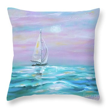Slight Wind Throw Pillow