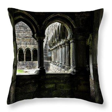 Throw Pillow featuring the photograph Sligo Abbey Interior by RicardMN Photography