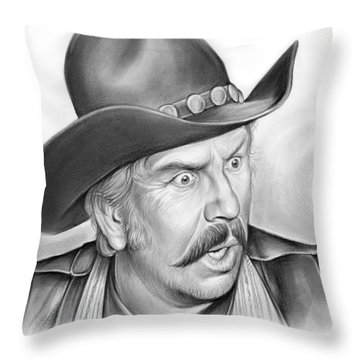 Slim Pickens Throw Pillow