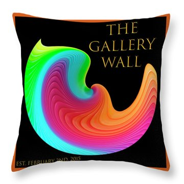 Throw Pillow featuring the photograph Slinky Dove Of Peace-the Gallery Wall Logo by Wendy Wilton