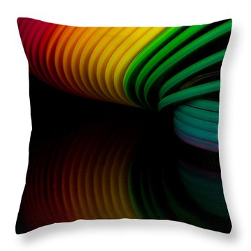 Slinky II Throw Pillow
