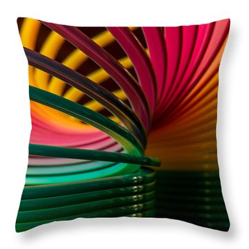 Slinky IIi Throw Pillow