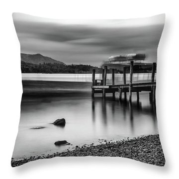 Slipping The Jetty Throw Pillow