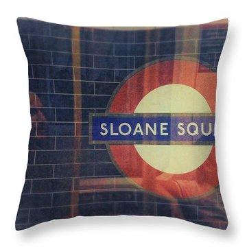 Sloane Square Portrait Throw Pillow