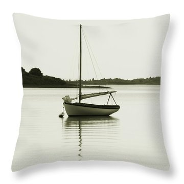 Sloop At Rest  Throw Pillow