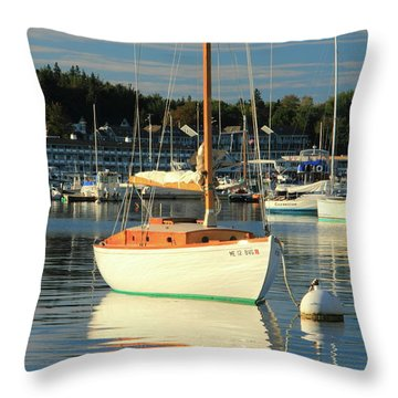 Sloop Reflections Throw Pillow by Roupen  Baker