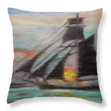 Sloop Throw Pillow