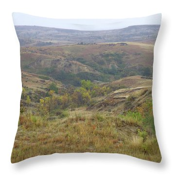 Slope County In The Rain Throw Pillow