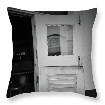 Throw Pillow featuring the photograph Sloppy Door by Jost Houk