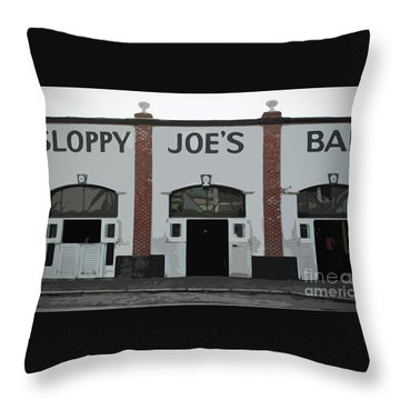Throw Pillow featuring the photograph Sloppy Joes Bar by Jost Houk