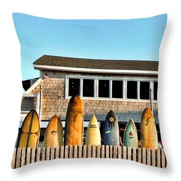 Sloppy Tuna Restaurant, Montauk Long Island Throw Pillow by Joan  Minchak