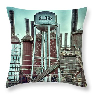 Sloss Furnaces Tower 3 Throw Pillow